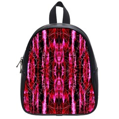 Pink Burgundy Traditional Pattern School Bags (small)