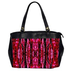 Pink Burgundy Traditional Pattern Office Handbags (2 Sides)  by Costasonlineshop