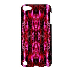 Pink Burgundy Traditional Pattern Apple Ipod Touch 5 Hardshell Case by Costasonlineshop