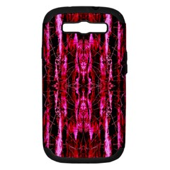 Pink Burgundy Traditional Pattern Samsung Galaxy S Iii Hardshell Case (pc+silicone)