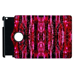 Pink Burgundy Traditional Pattern Apple Ipad 2 Flip 360 Case
