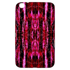 Pink Burgundy Traditional Pattern Samsung Galaxy Tab 3 (8 ) T3100 Hardshell Case