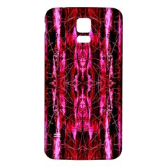 Pink Burgundy Traditional Pattern Samsung Galaxy S5 Back Case (white)