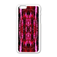 Pink Burgundy Traditional Pattern Apple Iphone 6/6s White Enamel Case