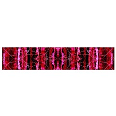 Pink Burgundy Traditional Pattern Flano Scarf (small)