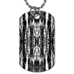 Black White Taditional Pattern  Dog Tag (one Side)
