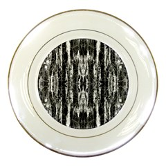 Black White Taditional Pattern  Porcelain Plates by Costasonlineshop