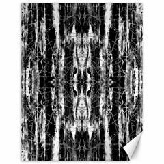 Black White Taditional Pattern  Canvas 12  X 16