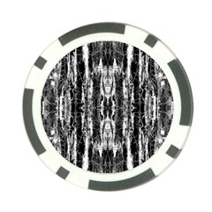 Black White Taditional Pattern  Poker Chip Card Guards