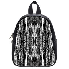 Black White Taditional Pattern  School Bags (small)  by Costasonlineshop