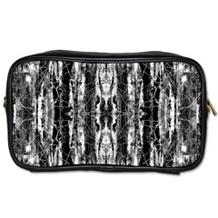 Black White Taditional Pattern  Toiletries Bags by Costasonlineshop