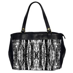 Black White Taditional Pattern  Office Handbags (2 Sides)  by Costasonlineshop