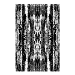 Black White Taditional Pattern  Shower Curtain 48  X 72  (small)  by Costasonlineshop