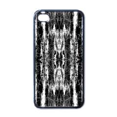 Black White Taditional Pattern  Apple Iphone 4 Case (black)