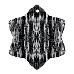 Black White Taditional Pattern  Snowflake Ornament (2 Side)