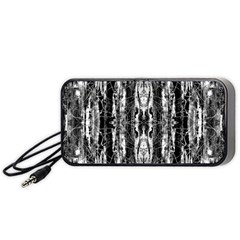 Black White Taditional Pattern  Portable Speaker (black)  by Costasonlineshop