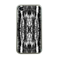 Black White Taditional Pattern  Apple Iphone 4 Case (clear) by Costasonlineshop