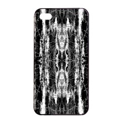 Black White Taditional Pattern  Apple Iphone 4/4s Seamless Case (black)
