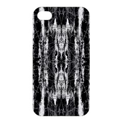 Black White Taditional Pattern  Apple Iphone 4/4s Premium Hardshell Case