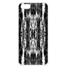 Black White Taditional Pattern  Apple Iphone 5 Seamless Case (white) by Costasonlineshop