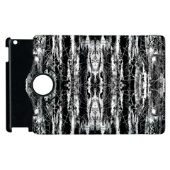 Black White Taditional Pattern  Apple Ipad 3/4 Flip 360 Case