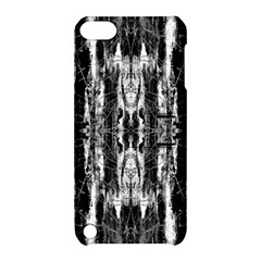 Black White Taditional Pattern  Apple Ipod Touch 5 Hardshell Case With Stand by Costasonlineshop