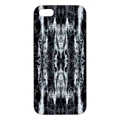 Black White Taditional Pattern  Apple Iphone 5 Premium Hardshell Case