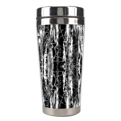 Black White Taditional Pattern  Stainless Steel Travel Tumblers by Costasonlineshop
