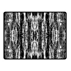 Black White Taditional Pattern  Double Sided Fleece Blanket (small)  by Costasonlineshop