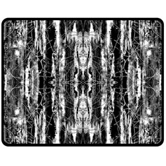 Black White Taditional Pattern  Double Sided Fleece Blanket (medium)  by Costasonlineshop