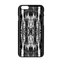 Black White Taditional Pattern  Apple Iphone 6/6s Black Enamel Case by Costasonlineshop