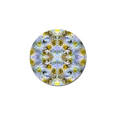 Blue Yellow Flower Girly Pattern, Golf Ball Marker (10 Pack) by Costasonlineshop