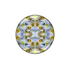 Blue Yellow Flower Girly Pattern, Hat Clip Ball Marker