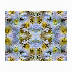 Blue Yellow Flower Girly Pattern, Small Glasses Cloth (2 Side) by Costasonlineshop