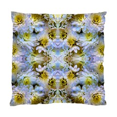 Blue Yellow Flower Girly Pattern, Standard Cushion Case (one Side) by Costasonlineshop