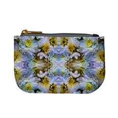Blue Yellow Flower Girly Pattern, Mini Coin Purses by Costasonlineshop