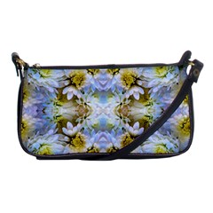 Blue Yellow Flower Girly Pattern, Shoulder Clutch Bags