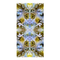 Blue Yellow Flower Girly Pattern, Shower Curtain 36  X 72  (stall)  by Costasonlineshop
