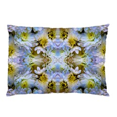 Blue Yellow Flower Girly Pattern, Pillow Case (two Sides) by Costasonlineshop
