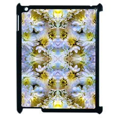 Blue Yellow Flower Girly Pattern, Apple Ipad 2 Case (black)
