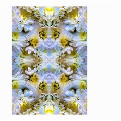 Blue Yellow Flower Girly Pattern, Small Garden Flag (two Sides) by Costasonlineshop