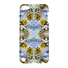 Blue Yellow Flower Girly Pattern, Apple Ipod Touch 5 Hardshell Case by Costasonlineshop