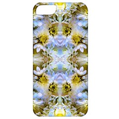 Blue Yellow Flower Girly Pattern, Apple Iphone 5 Classic Hardshell Case