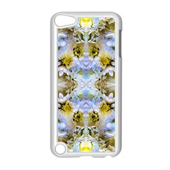 Blue Yellow Flower Girly Pattern, Apple Ipod Touch 5 Case (white)