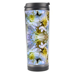 Blue Yellow Flower Girly Pattern, Travel Tumbler