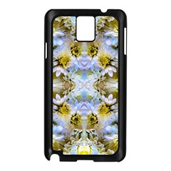 Blue Yellow Flower Girly Pattern, Samsung Galaxy Note 3 N9005 Case (black)
