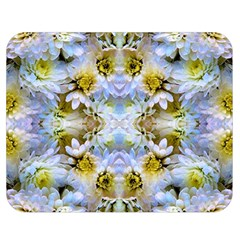Blue Yellow Flower Girly Pattern, Double Sided Flano Blanket (medium)  by Costasonlineshop