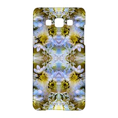 Blue Yellow Flower Girly Pattern, Samsung Galaxy A5 Hardshell Case  by Costasonlineshop