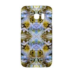 Blue Yellow Flower Girly Pattern, Galaxy S6 Edge by Costasonlineshop