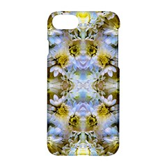 Blue Yellow Flower Girly Pattern, Apple iPhone 7 Hardshell Case by Costasonlineshop